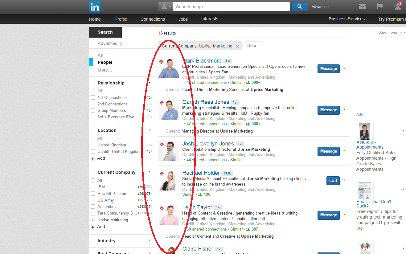linkedin lowdown part uprisevsi you can see the embedded uprise logo on our personal profiles