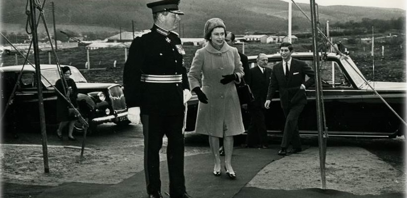 Her Majesty the Queen visits the new Royal Mint site in 1968