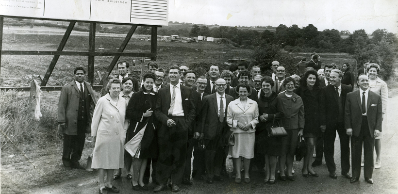 Royal Mint staff at the site of the new decimal branch in 1968