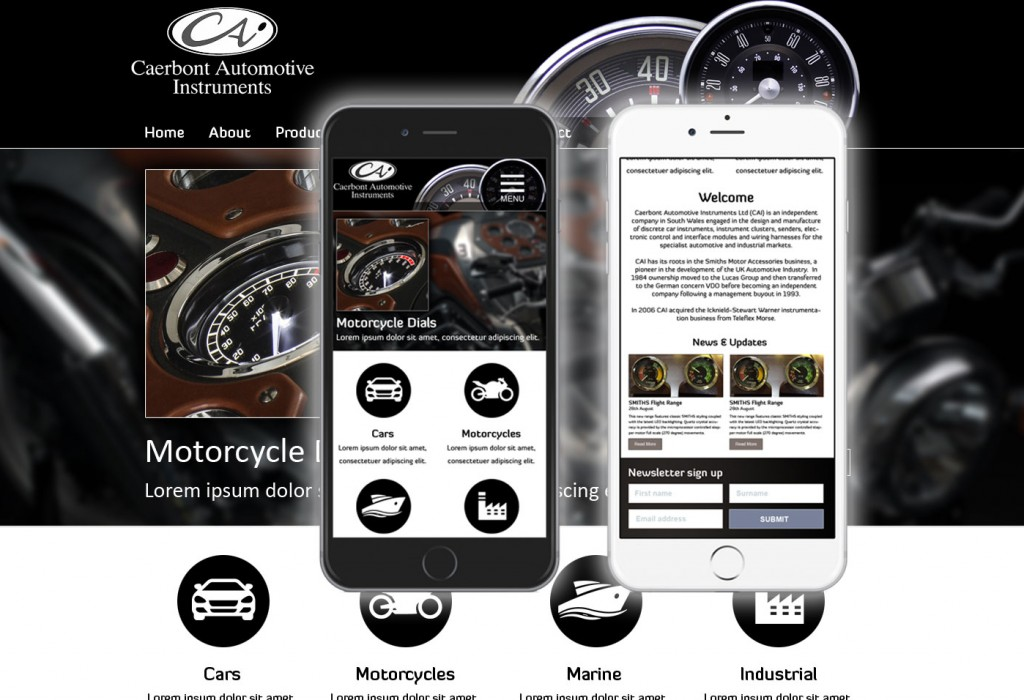 Caerbont Automotive website project