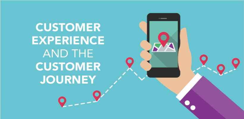 What is the difference between customer experience and the customer journey?